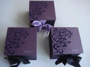 Подарочная упаковка с флоком